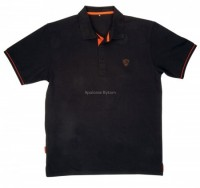 KOSZULKA POLO SHIRT BLACK/ORANGE rozmiar S FOX