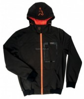 KURTKA SOFTSHELL HOODY BLACK/ORANGE rozmiar M FOX