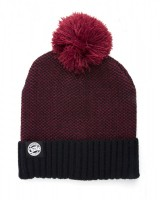 CZAPKA FOX CHUNK BOBBLE HATS BURGUNDY/BLACK MARL