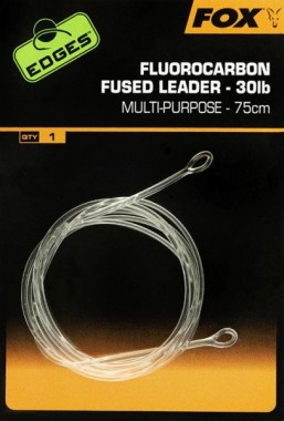 PRZYPON EDGES FLUOROCARBON FUSED LEADERS 75cm FOX