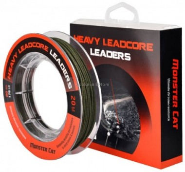 PRZYPON HEAVY LEADCORE 20m 80kg 176lb MONSTER CAT