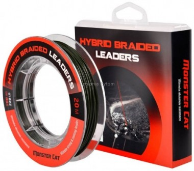 PRZYPON HYBRID LEADERS 20m 100kg 220lb MONSTER CAT