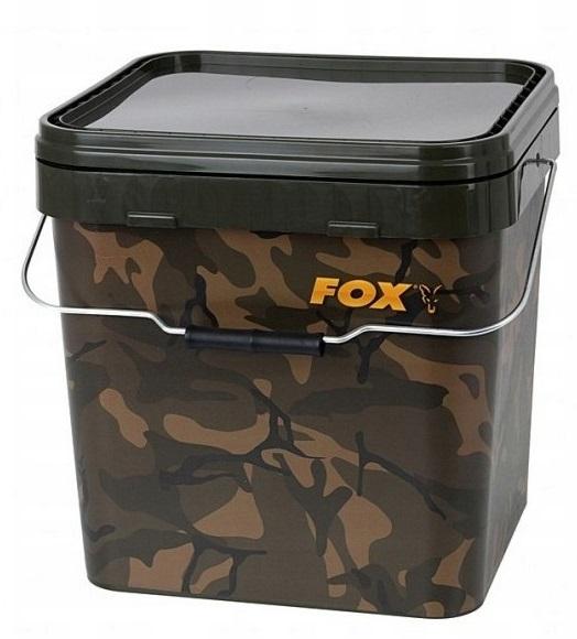 CBT007 Fox Camo Square Buckets Fishing Accessories 17L